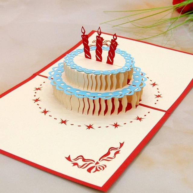 Amazing Birthday Cake Type B 3D Pop Up Card